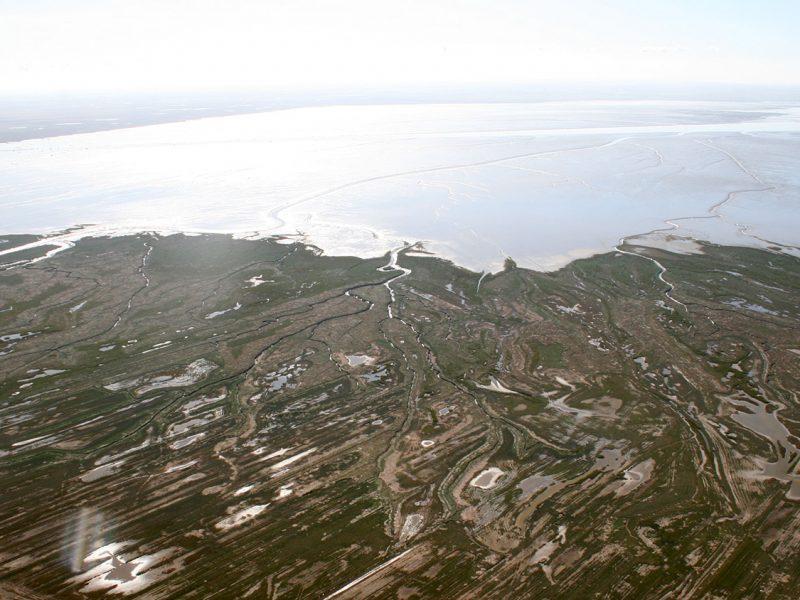 La réserve de la baie de l'Aiguillon vue du ciel. Mesures hydraulogiques