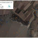 Localisation du Canard colvert mâle équipé de l'émetteur L112 (du 9/01/2017 au 30/01/2017)