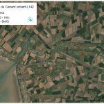 Localisation du Canard colvert femelle équipé de l'émetteur L142 (du 17/02/2017 au 11/04/2017)